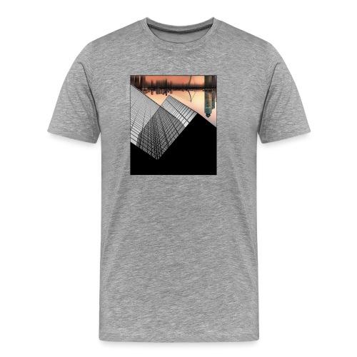 Rotterdam Skyline vs Delftse Poort - Mannen Premium T-shirt