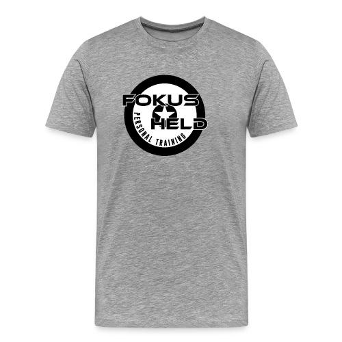 black&white FOKUS HELD - Männer Premium T-Shirt