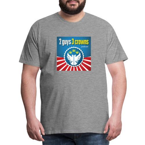 Official 2 Guys 3 Crowns Logo - Men's Premium T-Shirt