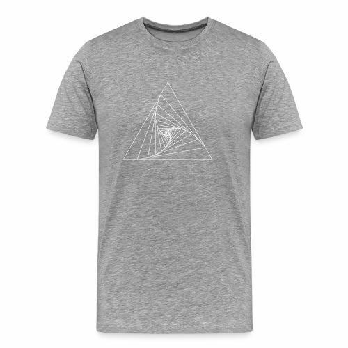 Triangle white - T-shirt Premium Homme