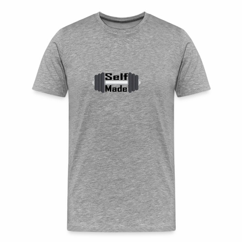 Self Made Black Text - Men's Premium T-Shirt