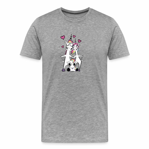 Familie Einhorn - Männer Premium T-Shirt