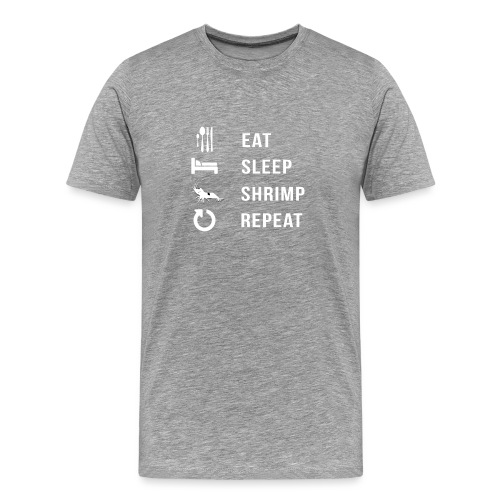EAT SLEEP SHRIMP REPEAT [BLANC] - T-shirt Premium Homme