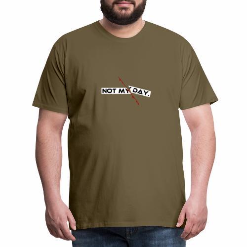 NOT MY DAY mit blutigem Schnitt, Depression, cool - Männer Premium T-Shirt