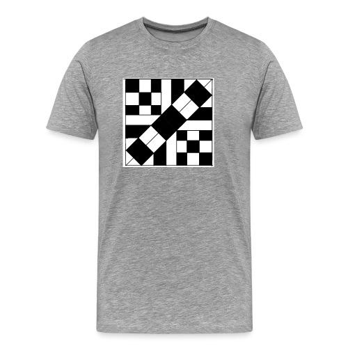 checker patterned art - Men's Premium T-Shirt