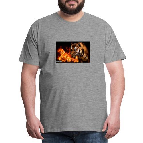 Tiger Flame - Herre premium T-shirt