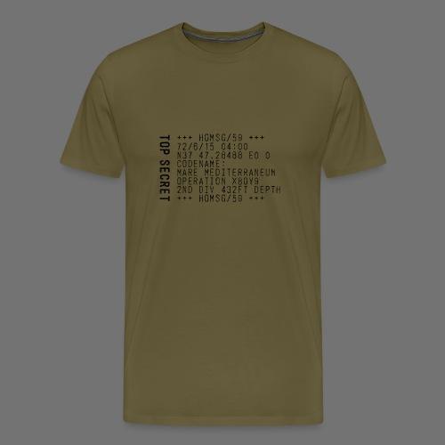 Top Secret (musta) - Miesten premium t-paita