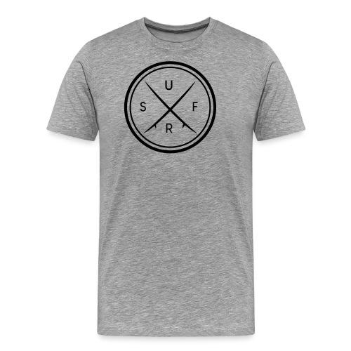 Surf Logo Motiv im Kreis - Männer Premium T-Shirt