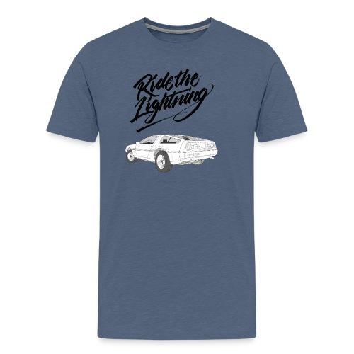 Delorean – Ride The Lightning - Männer Premium T-Shirt