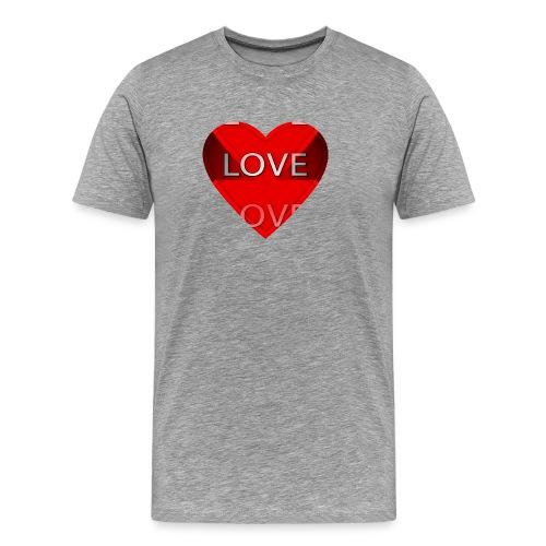Love Pliz Corazón TM - Camiseta premium hombre