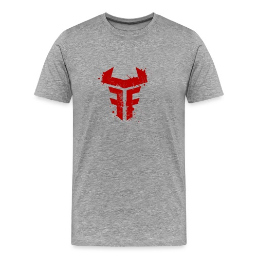 Fit Fight Bull Logo splatter distressed - Männer Premium T-Shirt
