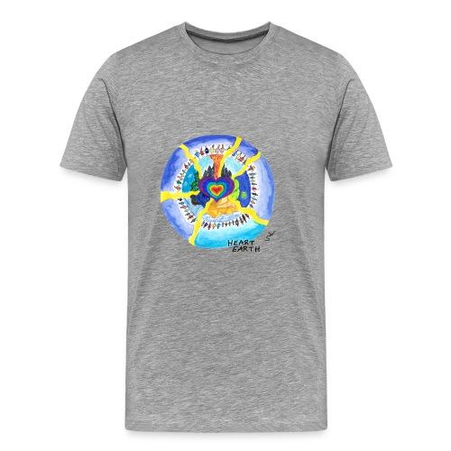 HEART EARTH - Männer Premium T-Shirt