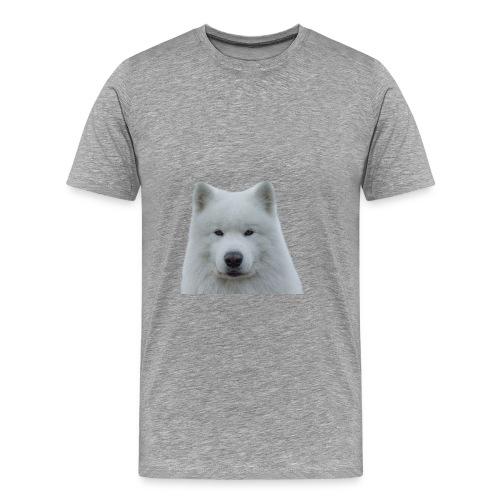 Hvit samojed - Premium T-skjorte for menn