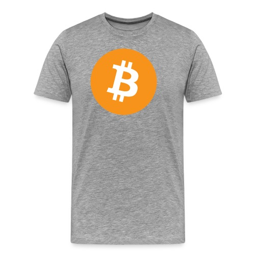 Bitcoin logo officiel - T-shirt Premium Homme