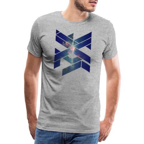 Galaxie Geometische Form - Männer Premium T-Shirt