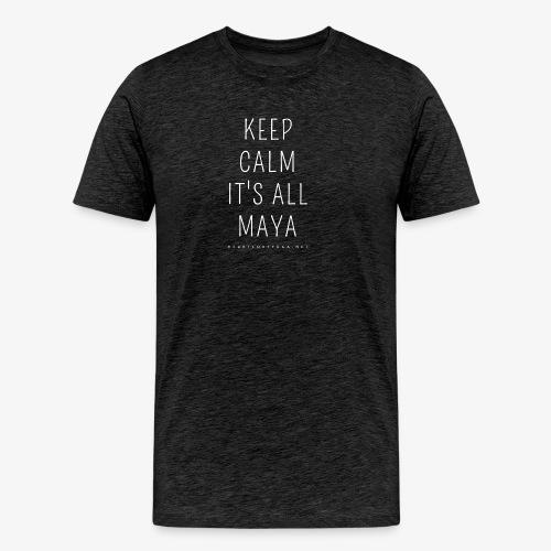 Heartcore Yoga 'It's All Maya 1' - Mannen Premium T-shirt