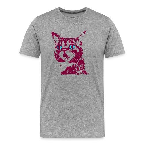 chat violet - T-shirt Premium Homme