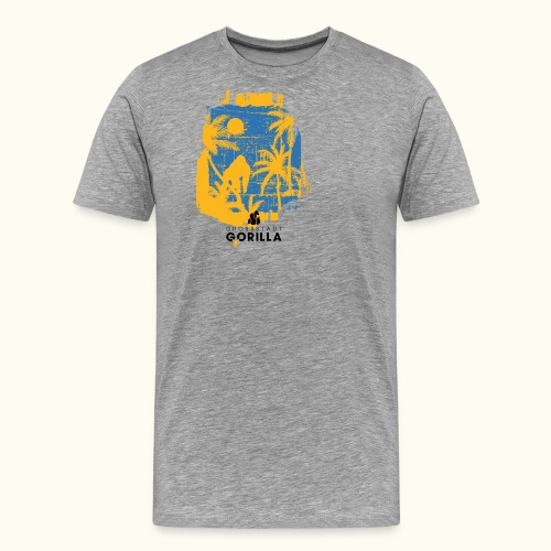 Gorilla Palmen - Männer Premium T-Shirt