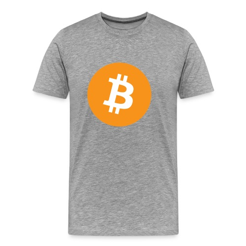 Bitcoin logo officiel - T-shirt Premium Homme