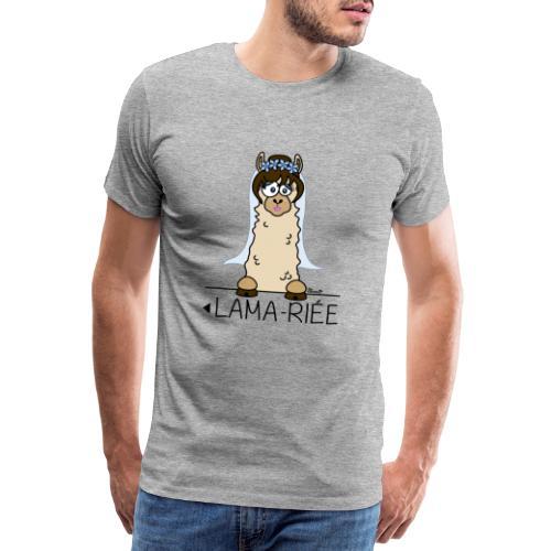 LAMARIEE (1de2), Mariage, mariée, Lama - T-shirt Premium Homme