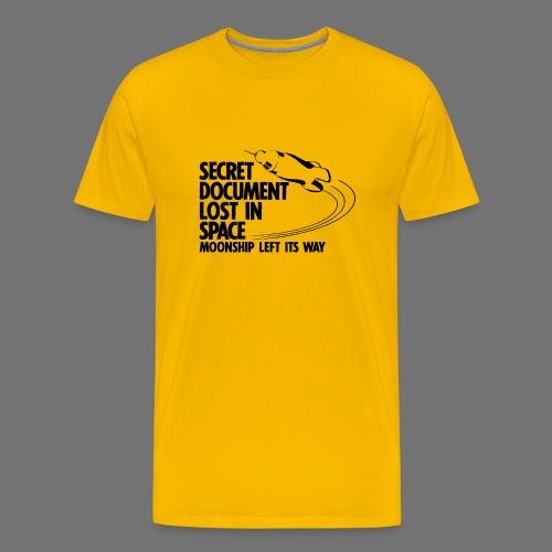 Kadonnut asiakirja (musta) - Miesten premium t-paita