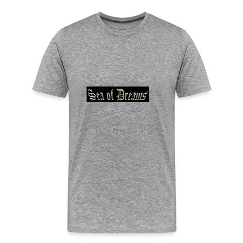 SEA OF DREAMS BLACK BACKGROUND - Premium T-skjorte for menn
