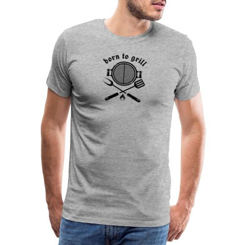 Born to grill (black on white) - Männer Premium T-Shirt