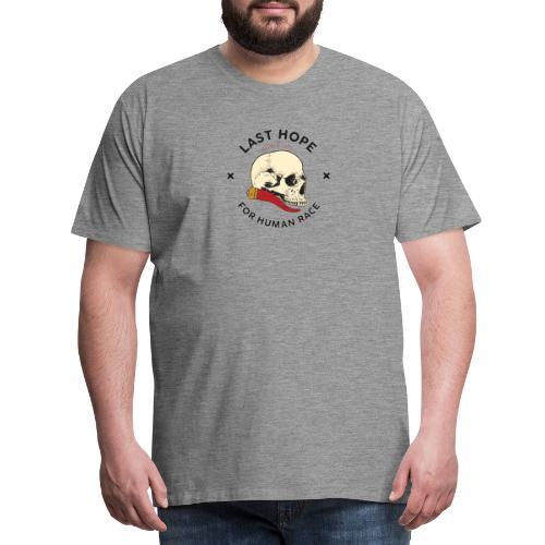 Skull and Red Horn - Maglietta Premium da uomo