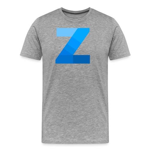 ZettaOS Blue Contrast - Mannen Premium T-shirt