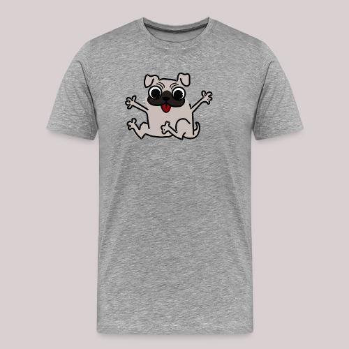 Hund Mops Hundeliebhaber - Männer Premium T-Shirt
