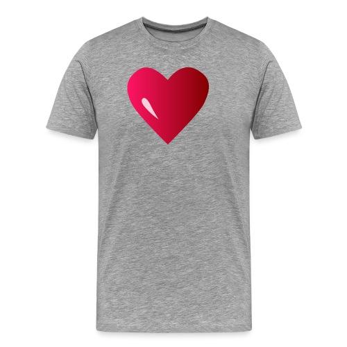 logo corazon rosa by Vexels - Camiseta premium hombre