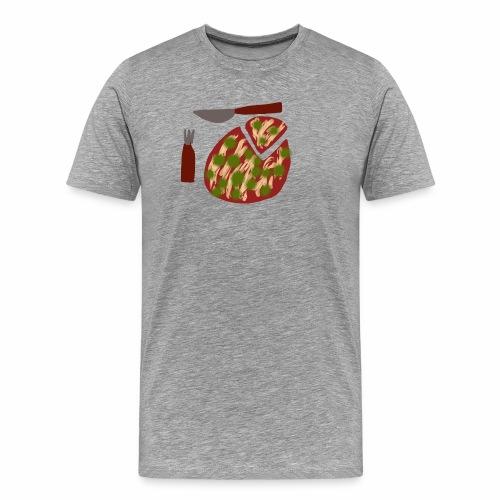 Eine Pizza - Männer Premium T-Shirt