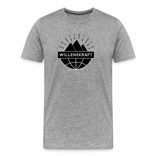 Willenskraft_Welt - Männer Premium T-Shirt