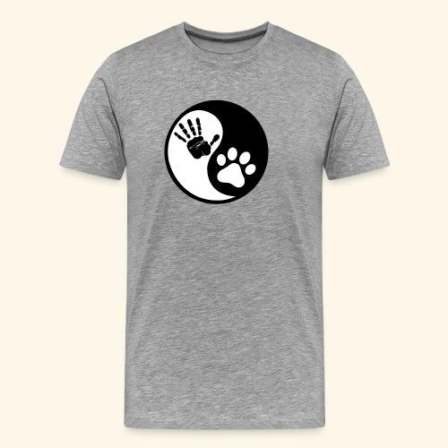 Hunde Yin Yang T-Shirt - Männer Premium T-Shirt