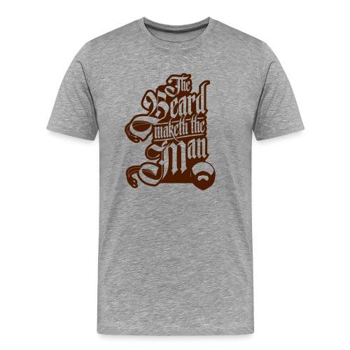 The Beard Makes The Man - Men's Premium T-Shirt