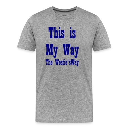 This is My Way Navy - Men's Premium T-Shirt