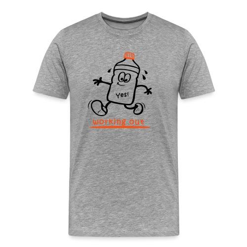 Jogger, working out, Sportler - Männer Premium T-Shirt