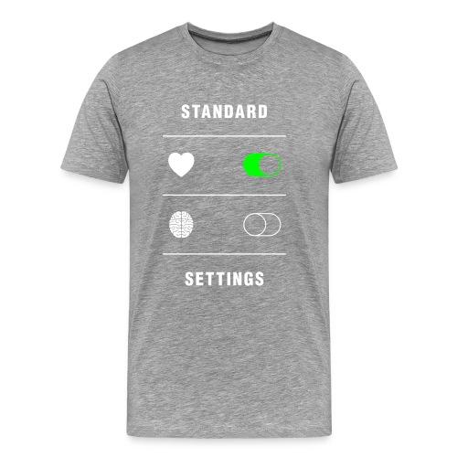 standard settings - Herre premium T-shirt