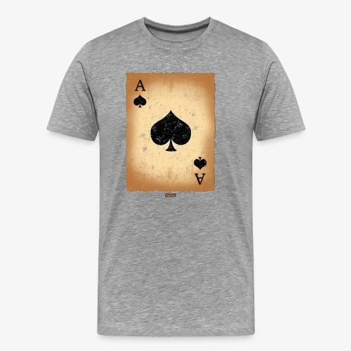 Spielkarte Pik Ass HARIZ Karneval Kostuem Koeln - Männer Premium T-Shirt