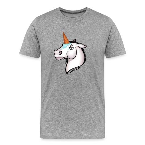 Eishorn Himmelblau - Männer Premium T-Shirt