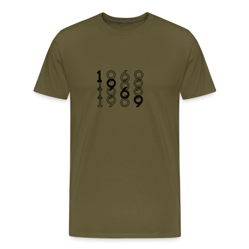 1969 syntymävuosi - Miesten premium t-paita