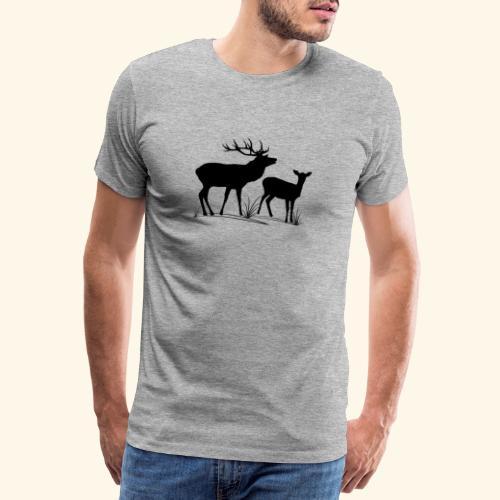 Hirsch, Reh, Rotwild, Damwild, Wald, Tiere, Rehe - Männer Premium T-Shirt