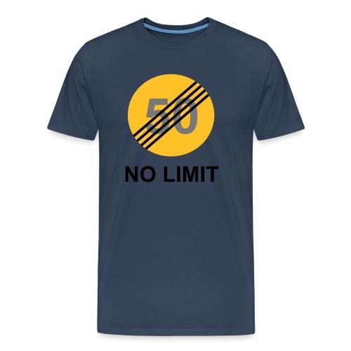 NO LIMIT temp design - Miesten premium t-paita