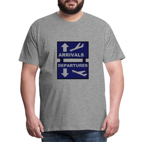 ArrivalsDepartures Sign - Men's Premium T-Shirt