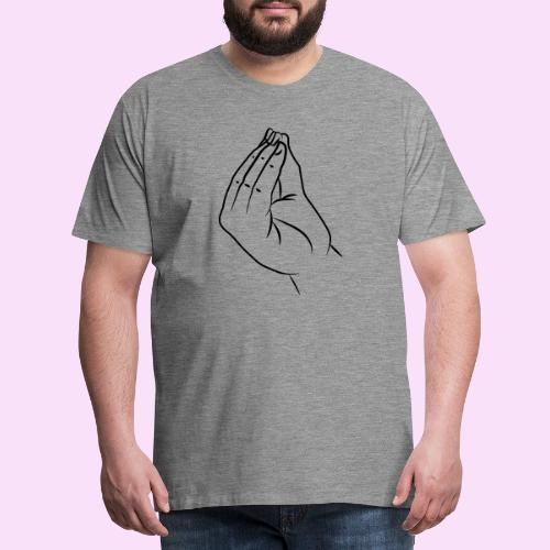 Italienische Hand - molto bene - Männer Premium T-Shirt
