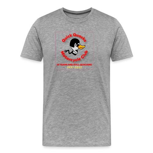 Quack logo 25 years no white square - Men's Premium T-Shirt