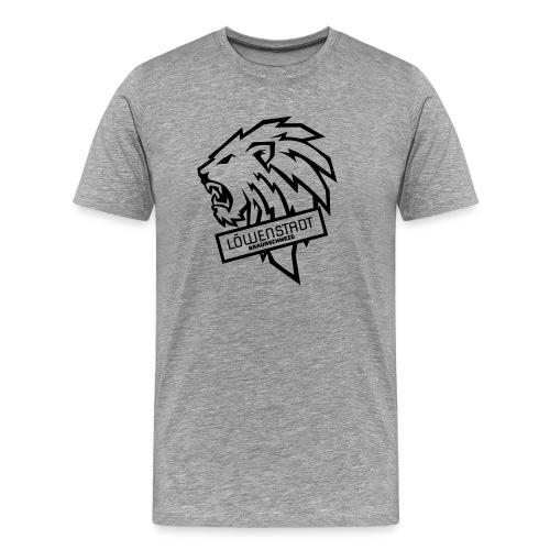 Löwenstadt Design 9 schwarz - Männer Premium T-Shirt