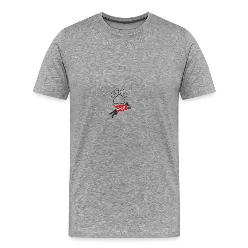 Hundepfote Haustierhero - Männer Premium T-Shirt
