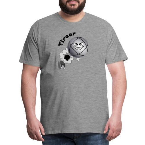 t shirt pétanque tireur boule existe en pointeur N - T-shirt Premium Homme