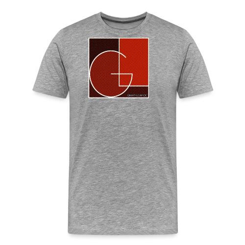 formig raster rot - Männer Premium T-Shirt